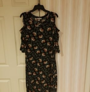 Dress with cut out shoulders